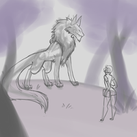 WIP- Forest Meeting. by FrostedSouls