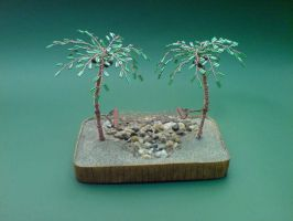 Bonsai wire tree beaded palm by sinisaart