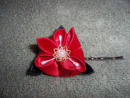 Kanzashi, Red and Black by Akamar