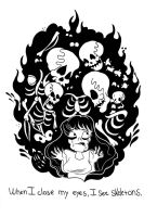 Skeletons by after-the-funeral