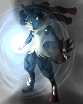 Pokemon X/Y Mega-Lucario by k-the-dragonknight