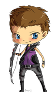 MARVEL - Hawkeye Chibi by virro-d