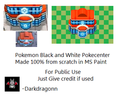 Black white Pokecenter tile by DarkDragonn