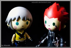 KH Minis: Riku and Axel by Miarath