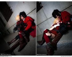 Hellsing Cosplay: Alucard x Seras: Slept So Long by Redustrial-Ruin