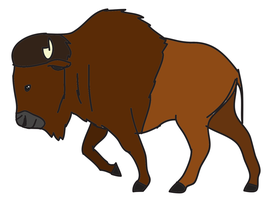 Test Bison Vector by TroyandFriends