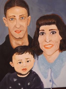 My aunt, uncle, and cousin, by Cassie Kinney, 2015 by sillybunnns