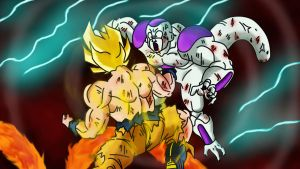 Goku VS Freezer by HayabusaSnake
