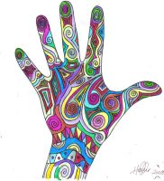 my trippy hand by rainbow5star