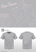 Ocean Unicorn Mythical creatures T shirt entry by Fairytopiasenshi