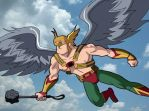 Hawkman takes to the sky by HeroOfZeros
