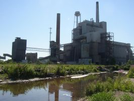 Dead Power plant and nature. by Mr-Sarcasm