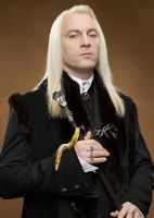 Lucius Malfoy and His Daemon by LJ-Todd