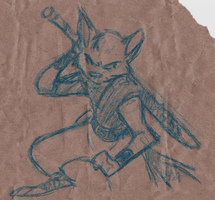 Pubdoodles - Ninja Kitteh by fnook