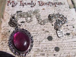 Sparkling Fucsia Cameo by TheLovelyBoutique