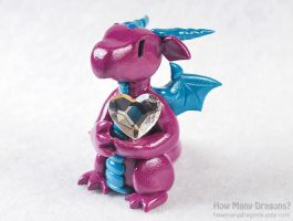 Magenta Heart Dragon by HowManyDragons