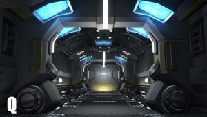 Space Hallway by QUICKMASTER