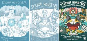 StickUp Monsters show poster sketches by ExoesqueletoDV