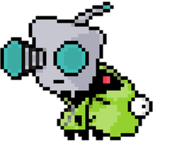 G.I.R. from Invader Zim by Pixel-League