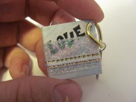'Love' Miniature Book Pendant by Elvaneyl