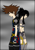 CP: Sora and Rommie by My13Memories
