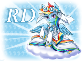 Rainbow Dash the bride by vavacung