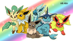 Eeveelutions by EmeraldsOfSugar