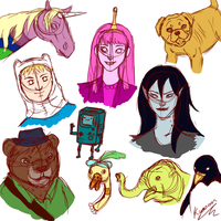 Adventure Time sketches by Kyozion
