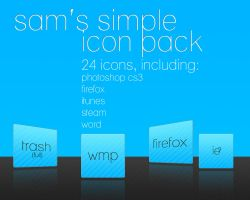 Sam's Simple Icon Pack by Sin1st3r