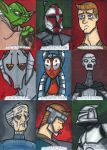 Star War Galactic Files Sketchcards Part 1 by bdeguire