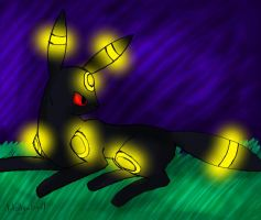 H: Umbreon on GIMP by Shatter-Workz