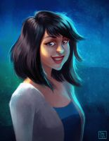 Digital Portrait Raffle winner: Nathalia by StefTastan