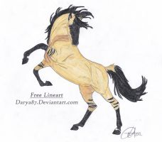 Buckskin Stallion Draw to Adopt by ForeverFallen16