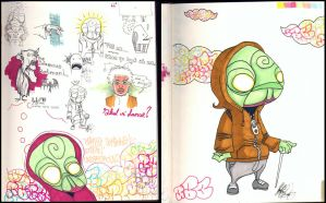 Sketchbook - page 18 and 19 by CC-JAB