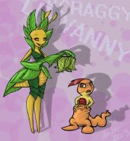 Leavanny and Scraggy by Flytrap-Hell