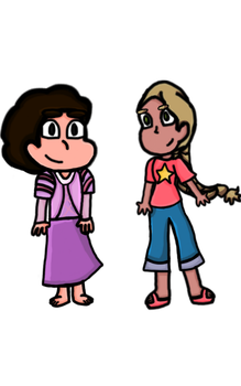 Steven and Rapunzel clothes swap by Stephers101