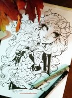 Lagoona commission ink by KelleeArt