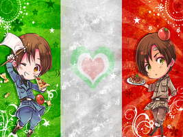 Hetalia-North and South Italy by Shirayuki-Arisu