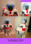 Red Megatron plushie by Crystal-Dream