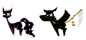 Roman God Shadow Cat adopts 3 LAST ONES CLOSED by gaytiers