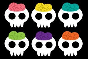 Colorful_Skulls by Sarinjin