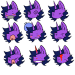 Lunacorn Expressions 10 by Myumimon