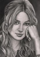 'Keira Knightly' graphite portrait by Pen-Tacular-Artist