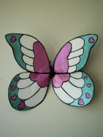 Cotton Candy Hearts Wings by KimsButterflyGarden