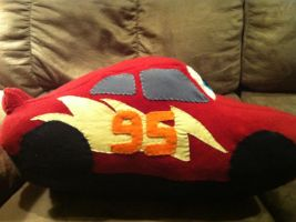 Lightning McQueen plush- right side by bonniea423