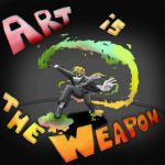 Art Is The Weapon by PhantomFox777