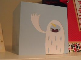 yeti corn christmas card by armadilloboy