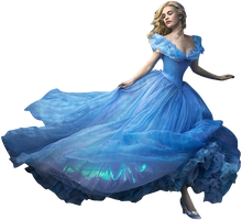 Lily James as Cinderella-Full Body PNG by nickelbackloverxoxox