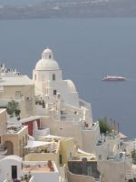 Santorini from on-high by miguetx
