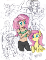 Pony Sketch Dump 6 by DANMAKUMAN